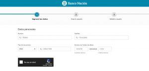 crear usuario home banking tarjeta alimentaria