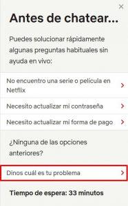 seleccionar opcion centro de ayuda netflix