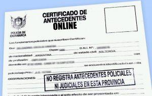 TRAMITAR certificado de antecedentes penales online