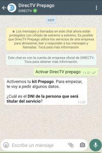activar directv prepago por whatsapp